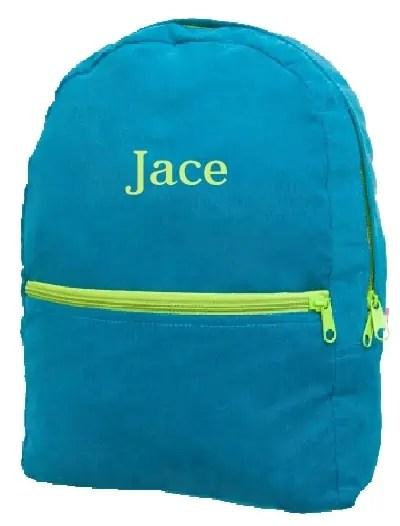 Corduroy Toddler Backpack - Peacock