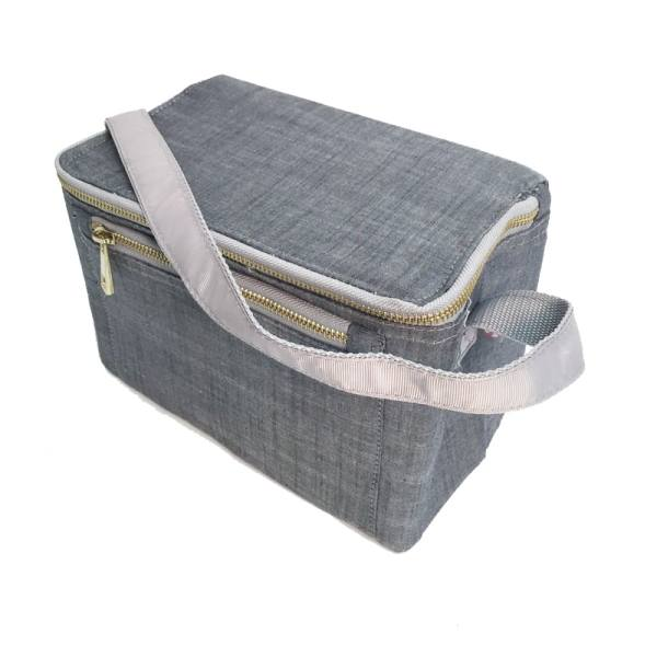 Personalized Kids Lunch Box - Grey Chambray