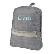 Grey Chambray Toddler Backpack