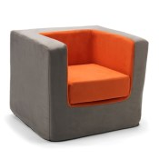 Personalized Orange Cubino Chair by Monte Design