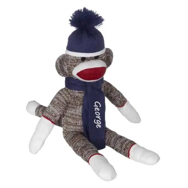 Personalized Sock Monkey - Blue