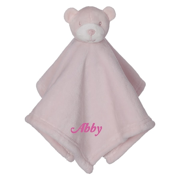 Personalized Blanky - Beary Sweet Pink