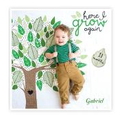 Baby Milestone Blanket - Here I Grow