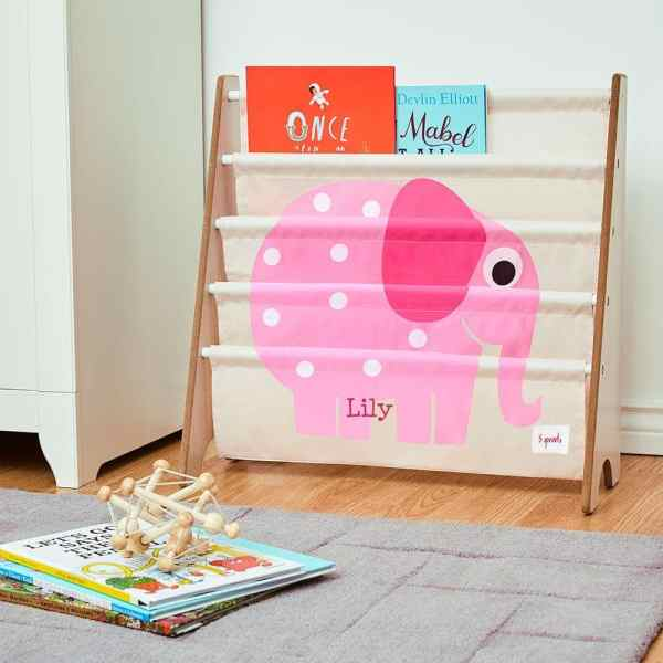 3 Sprouts Book Rack - Elephant