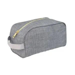 Grey Chambray Traveller Bag
