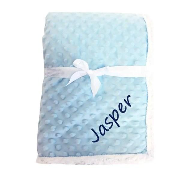 Popcorn Blue Sherpa Blanket