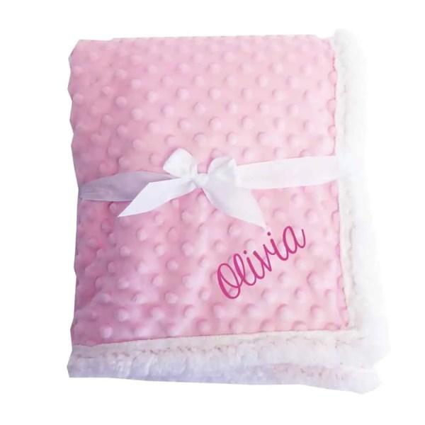 Popcorn Pink Sherpa Blanket