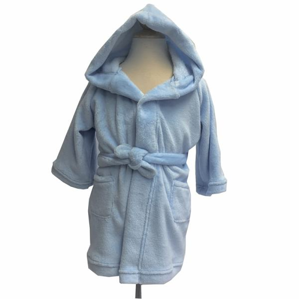 personalized kids robe - blue