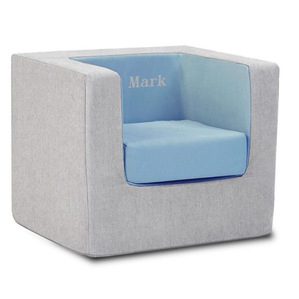 Personalized Cubino Chair - Ash Blue Monte