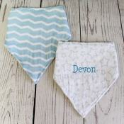 Personalized Baby Bib - Blue