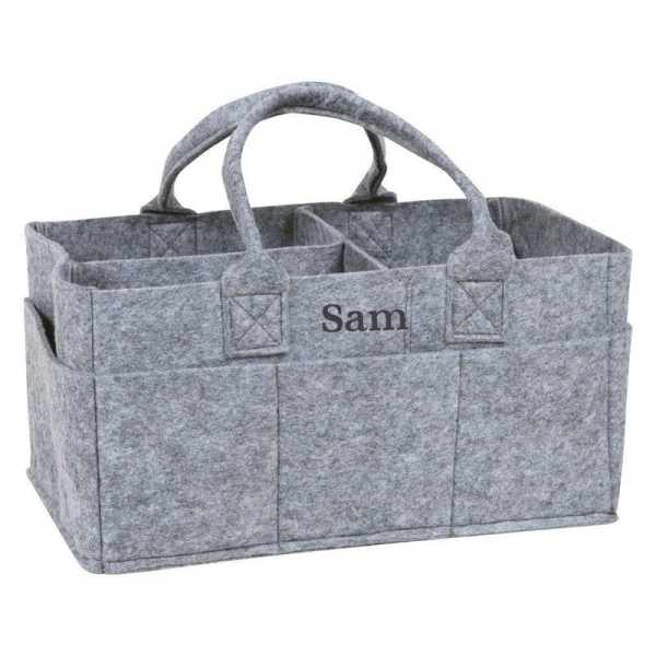 Personalized Caddy - Light Grey