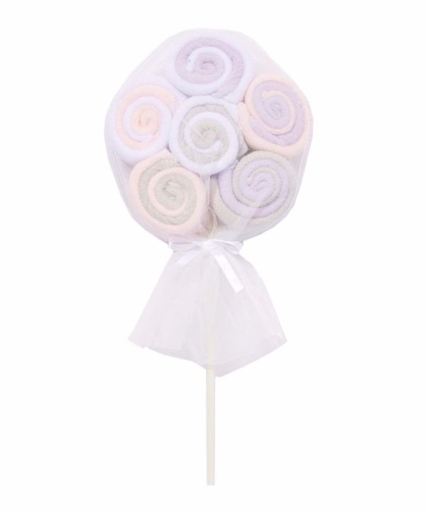 Washcloth Lollipop - Pink