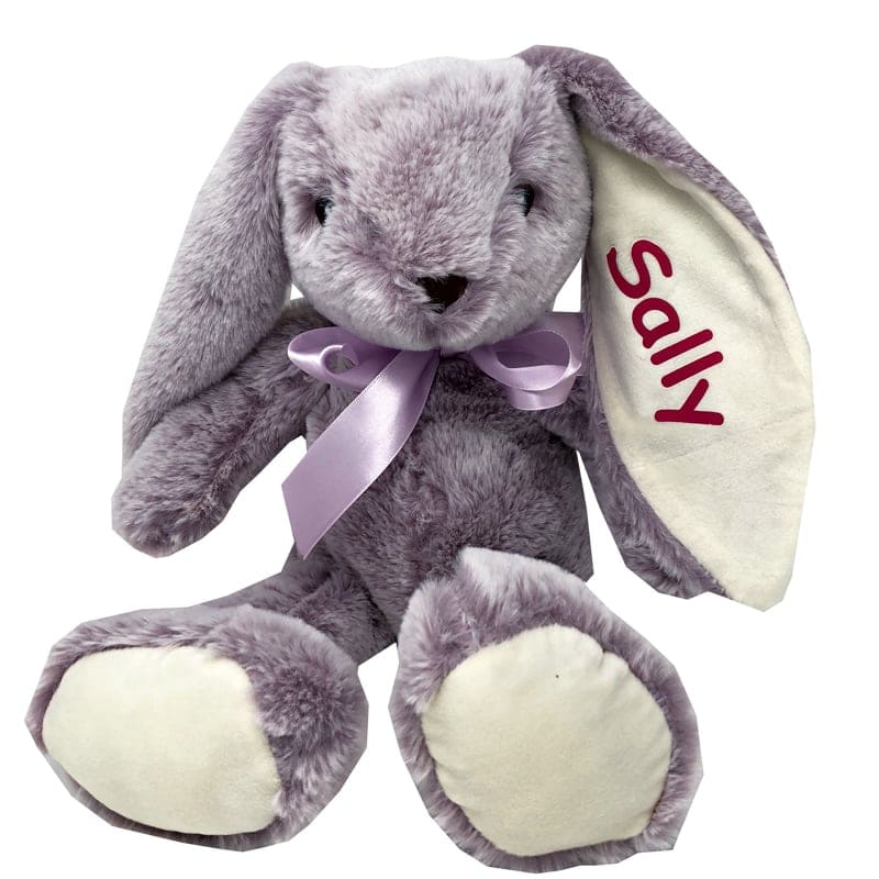 Personalized Stuffed Animal Long Ear Bunny In Lilac You Name It