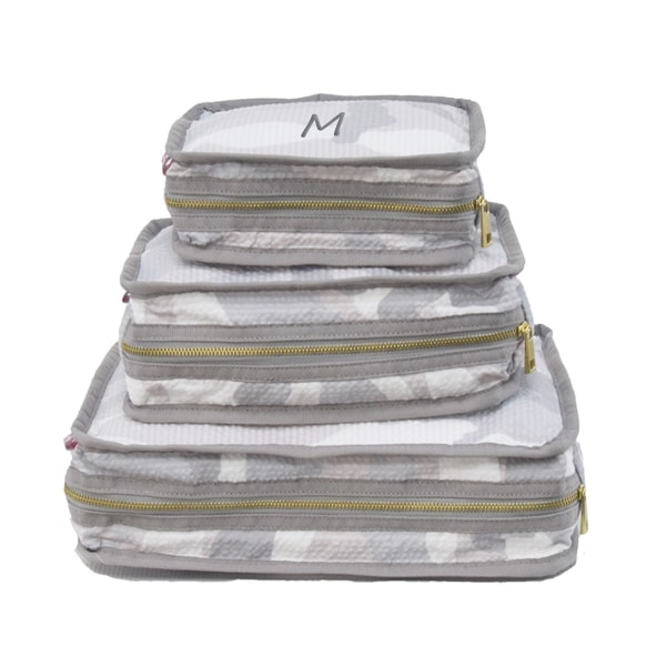 Personalized Travel Stacking Set of 3 - Grey Camo
