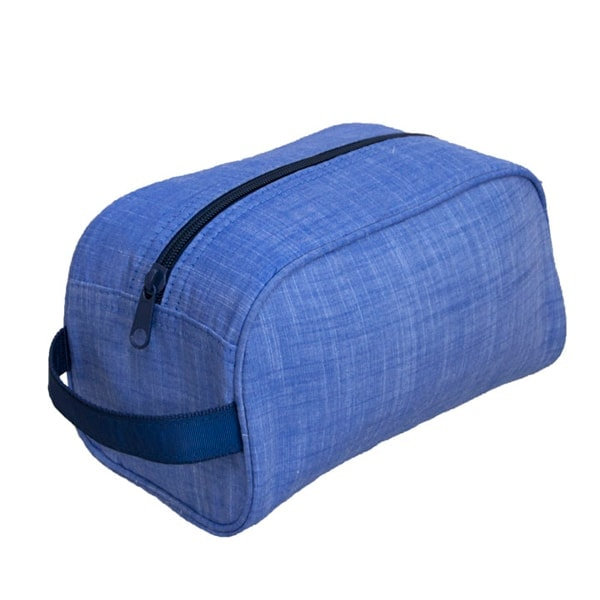 Personalized Traveller Bag - Navy Chambray