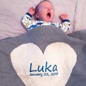 Personalized Natural Cotton Baby Blankets
