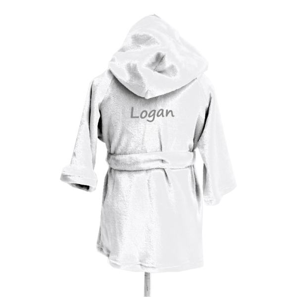 Personalized Kids Robe - White