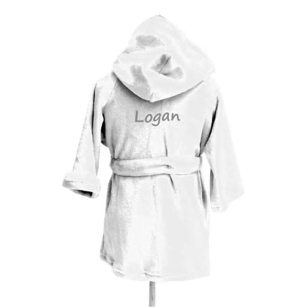 Personalized Kids Robe - White