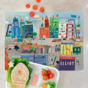 Personalized Placemat for Kids - Construction