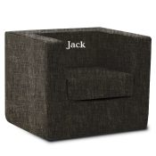Personalized Monte Cubino Chair - Pebble Black