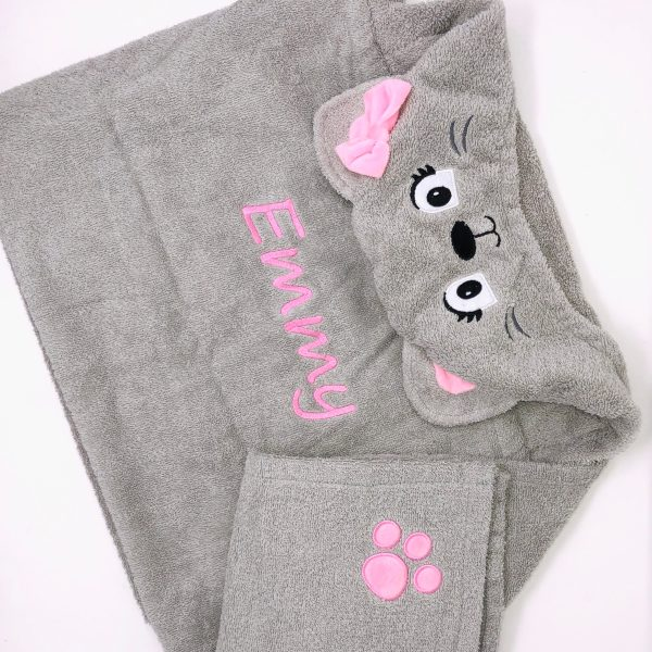 Personalized Kids' Towel - Cat