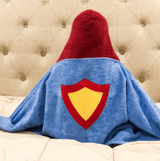 Personalized Hooded Towel for Kids - Superhero