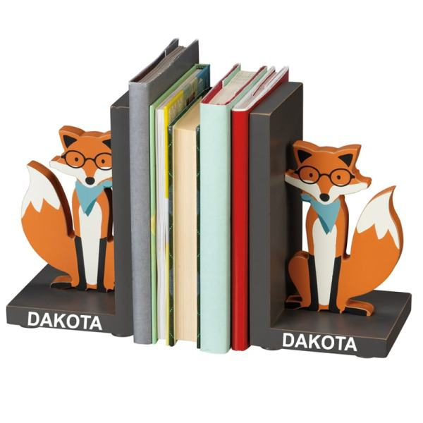 Personalized Kids Bookends - Fox