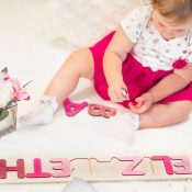 Wooden Name Puzzle - Glitter