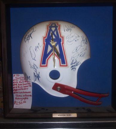 Huston Oilers Clock