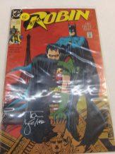Autographed Robin Comic