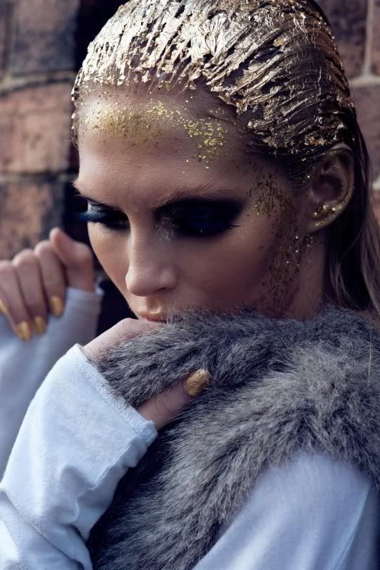 glitter hair editorial