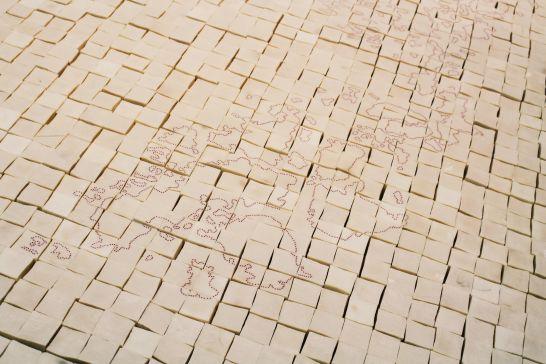 Present Tense, 1996, 2011 | Mona Hatoum exhibition, Centre Pompidou, Paris | Photographed by Clarissa of Youneedacocktail