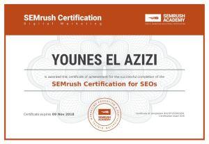 certificación semrush