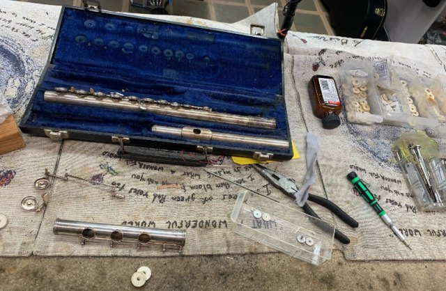 We offer instrument repairs on guitars, violins, woodwinds, drums, and much more!