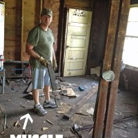 Bringing in the muscle: Removing 5 layers of kitchen flooring