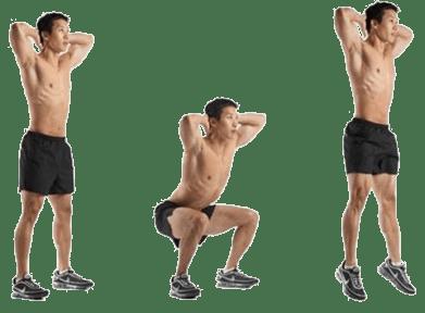 Tabata workout at home dynamic squat