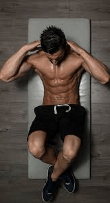 Tabata workout at home crunch