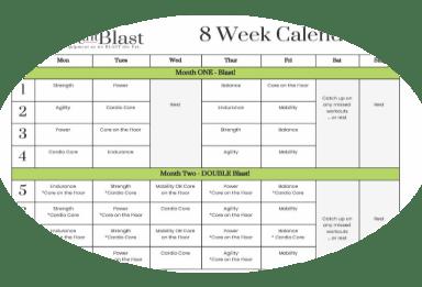 bodyweight blast workout calendar