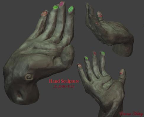 3D hands | Emma Haley game design