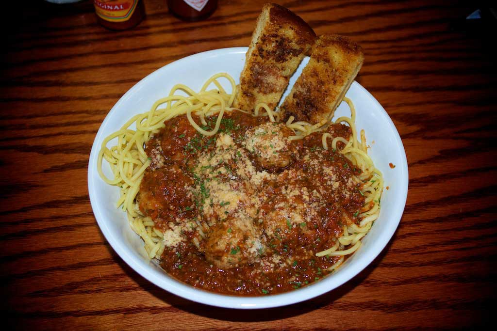 Youngblood's Texas Cookin' Stockyard Cafe - Spaghetti and Meatballs