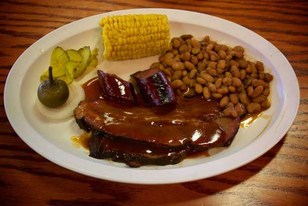 Youngblood's Texas Cookin' Stockyards Cafe - Barbecue Beef & Sausage