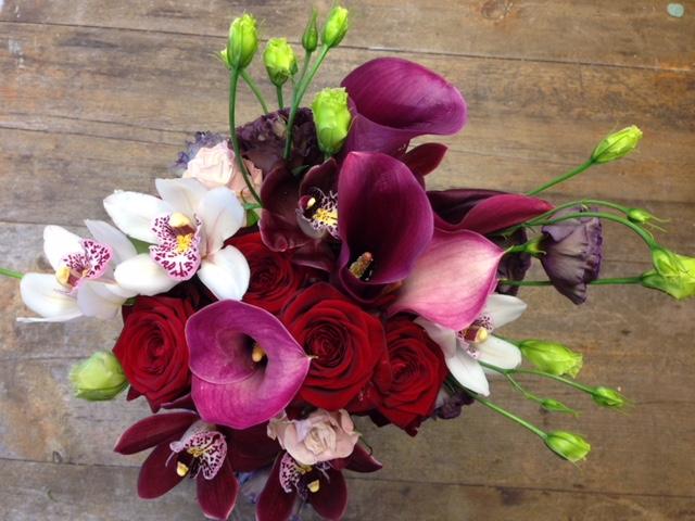 Christmas bridal bouquet