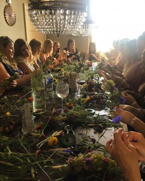 Flower-crown workshop, Bath