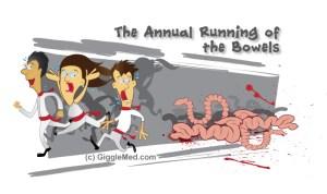 running-of-bowels-medical-cartoon