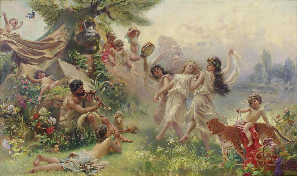 Happy Arcadia by Konstantin Makovsky