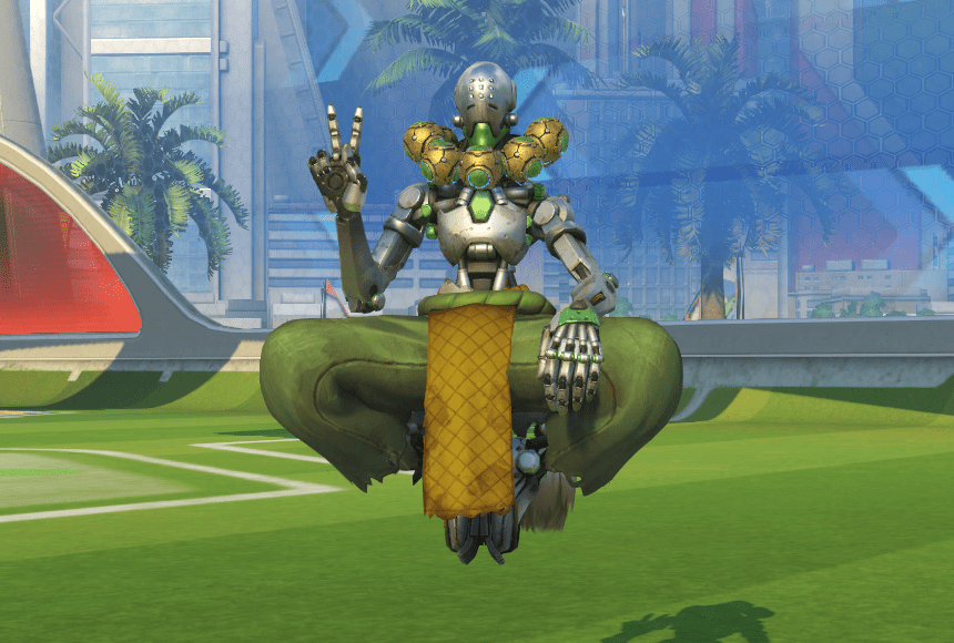 Zenyatta doing the victory sign