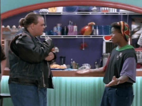 Bulk and Zack about to get into a dance-off