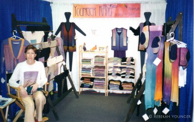 First Younger  Knits Craft Show booth