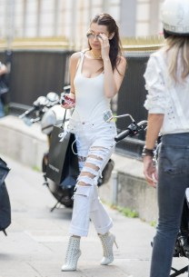 Exclusive... 52116270 Model Bella Hadid spent the day in hanging out with Fanny Bourdette-Donon (International Public Relations at Dior) in Paris, France on July 8, 2016. FameFlynet, Inc - Beverly Hills, CA, USA - +1 (310) 505-9876 RESTRICTIONS APPLY: USA ONLY