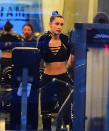 EXCLUSIVE: Bella Hadid was spotted at a NYC Gym on Wednesday as she took a hardcore boxing class. The stunning model showed off her fit figure and ripped abs as she traded punches with a trainer while wearing a black crop top and tight leggings. She took the hour long class with very few breaks as she gets into tip top shape for the upcoming Victoria's Secret Fashion Show . Pictured: Bella Hadid Ref: SPL1394765 161116 EXCLUSIVE Picture by: 247PAPS.TV / Splash News Splash News and Pictures Los Angeles: 310-821-2666 New York: 212-619-2666 London: 870-934-2666 photodesk@splashnews.com